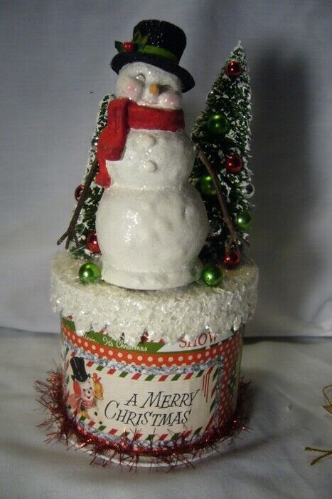 Bethany Lowe Retro Christmas Snowman on Box