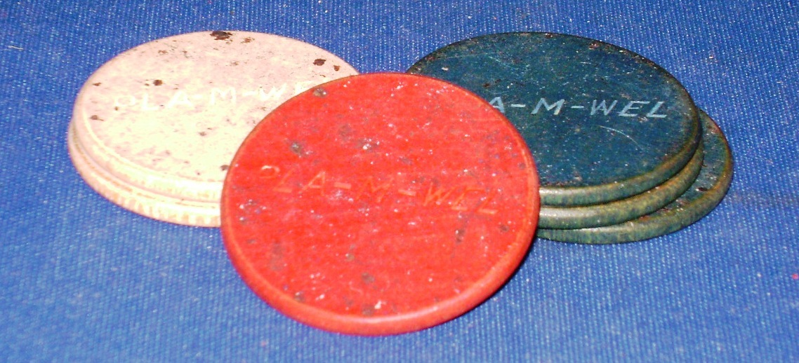Vintage~Polka~Card Playing Chips~Wood,Plastic,Paper,Bakelite~Horse w/Rider~100s