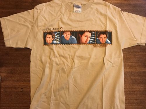 Primary image for Rare Clay Aiken 2004 Concert Tour Shirt Size M American Idol Mint