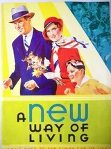 Vintage Booklet A New Way of Living Kelloggs All Bran Advertising 1932 C... - $6.07