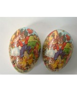 Vintage German Papier Mache Easter Egg Candy Container Mr Mrs Bunny Rabb... - $19.79