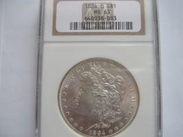 1884-O , Morgan Silver Dollar , NGC , MS 63 - $95.00