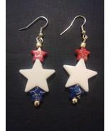 Patriotic Star Bead Earrings - $5.00