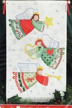 Cross Stitch Kit Christmas Traditions Angel Banner Designs For The Needle  - $23.87
