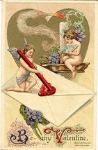 Be My Valentine John Winsch Vintage 1910 Cherubs Post Card - $7.00