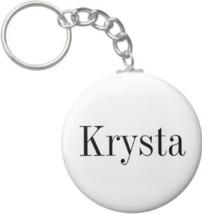 2.25 Inch Krysta Name Keychain (Style 1) - $2.75