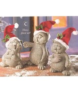 Caroling Cats Christmas Figurines New - $17.50