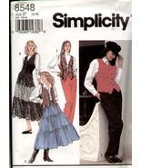 Simplicity 8548 Ladies Skirt Pants Vest Pattern 12, 14, 16 - $7.98