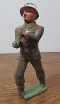 "Vintage Cast Iron METAL ARMY Figure, Figurine 3"" High - $16.83"