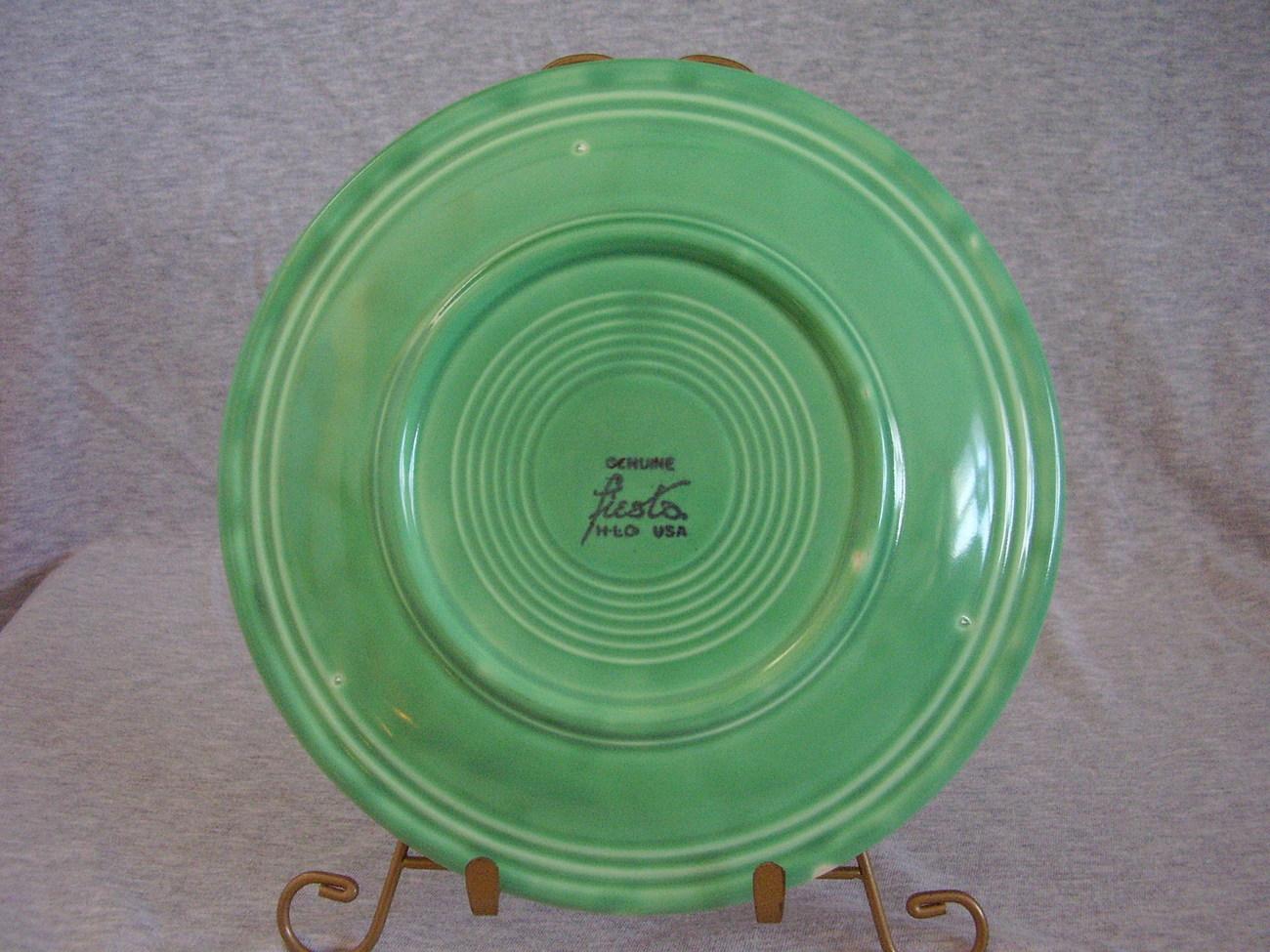 Vintage Fiestaware Original Green Lunch Plate  R