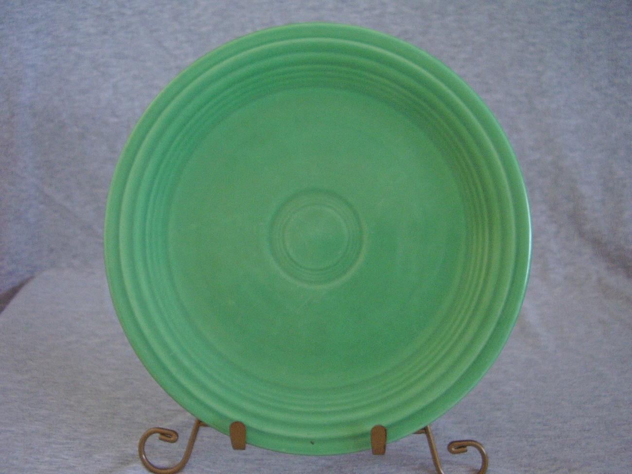 Vintage Fiestaware Original Green Lunch Plate  Q