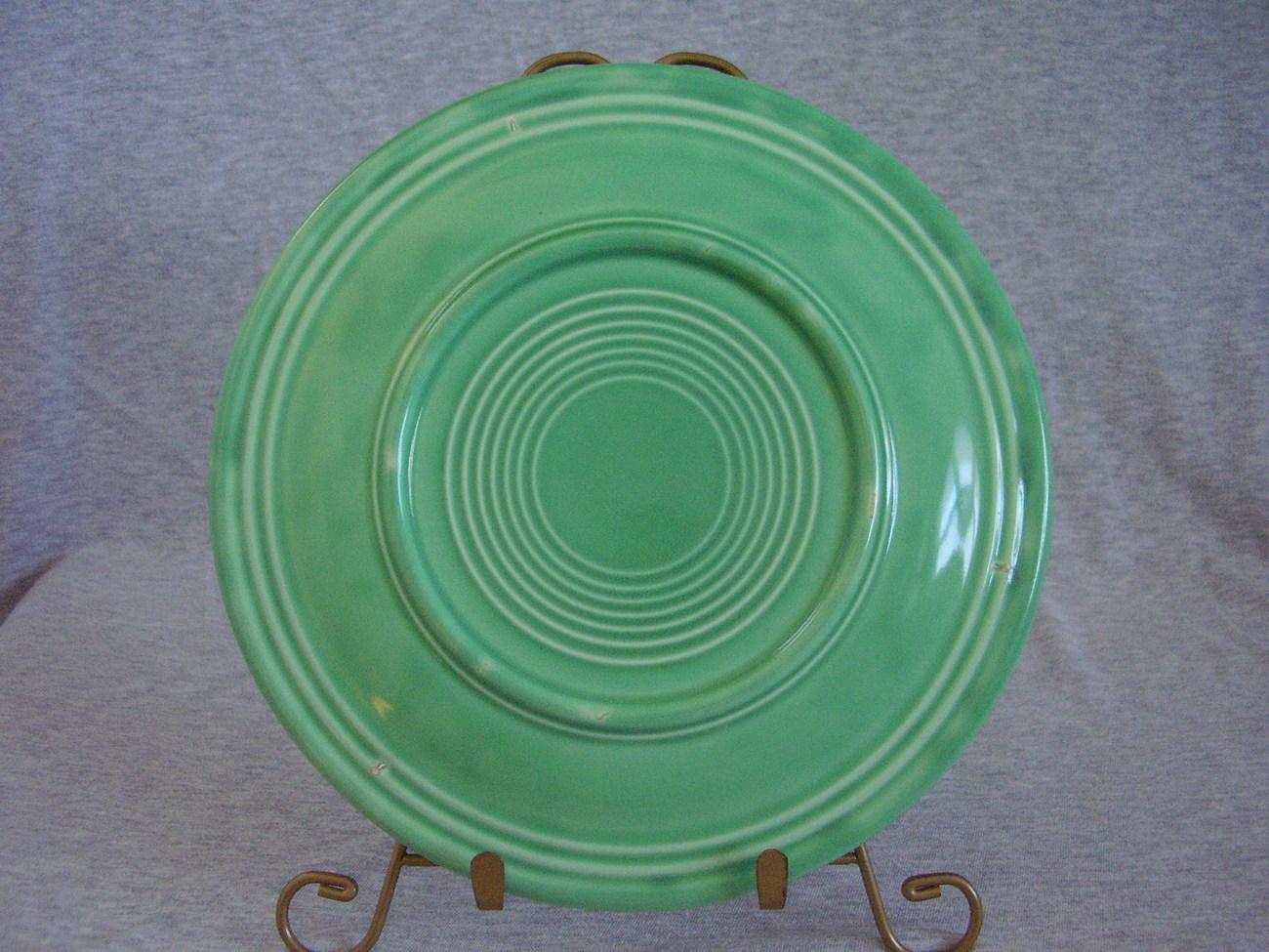 Vintage Fiestaware Original Green Lunch Plate  N
