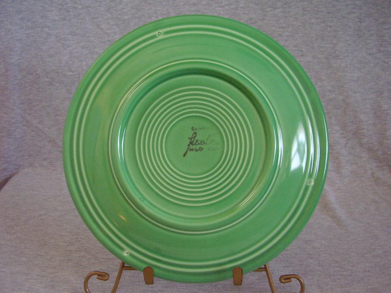 Vintage Fiestaware Original Green Lunch Plate  L