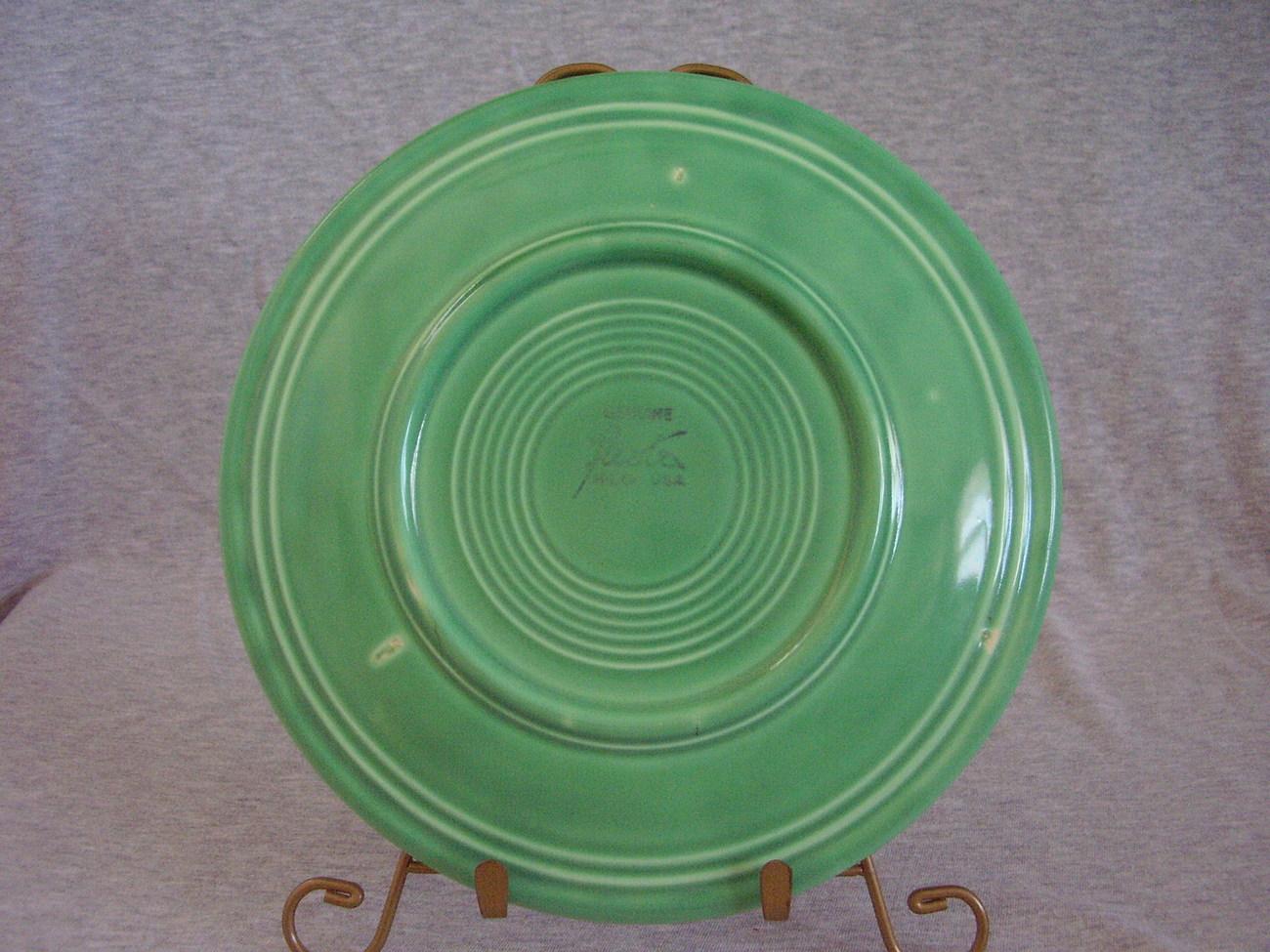 Vintage Fiestaware Original Green Lunch Plate  H