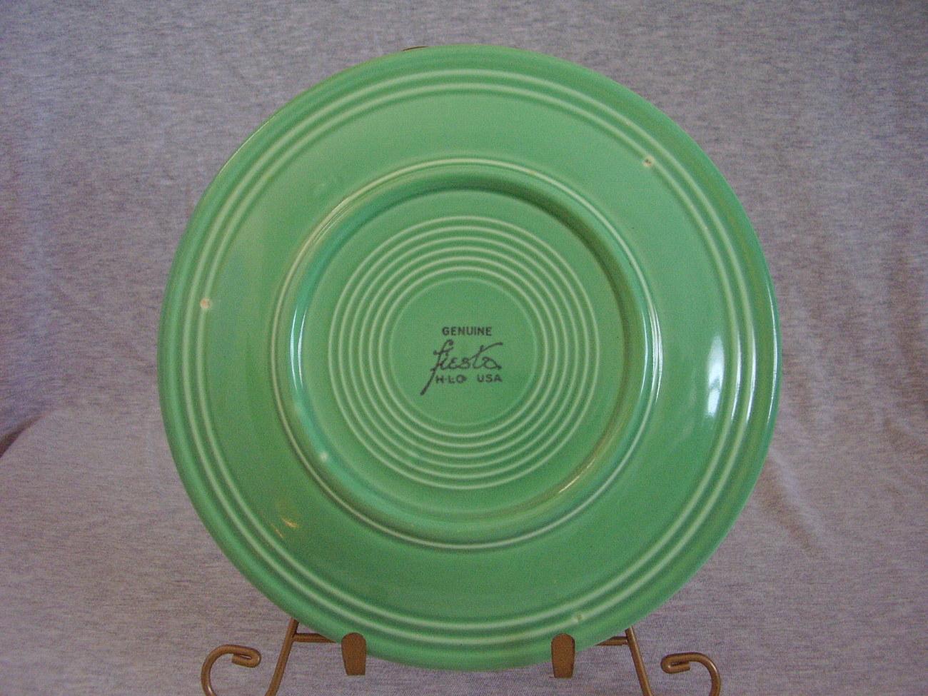 Vintage Fiestaware Original Green Lunch Plate  J