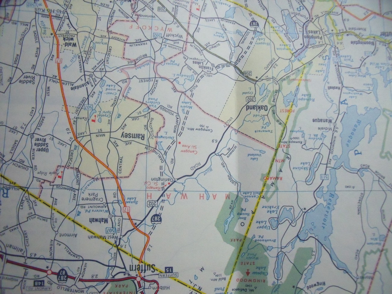 Exxon New Jersey State Map