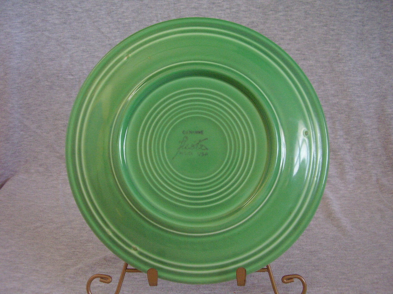 Vintage Fiestaware Original Green Lunch Plate  E
