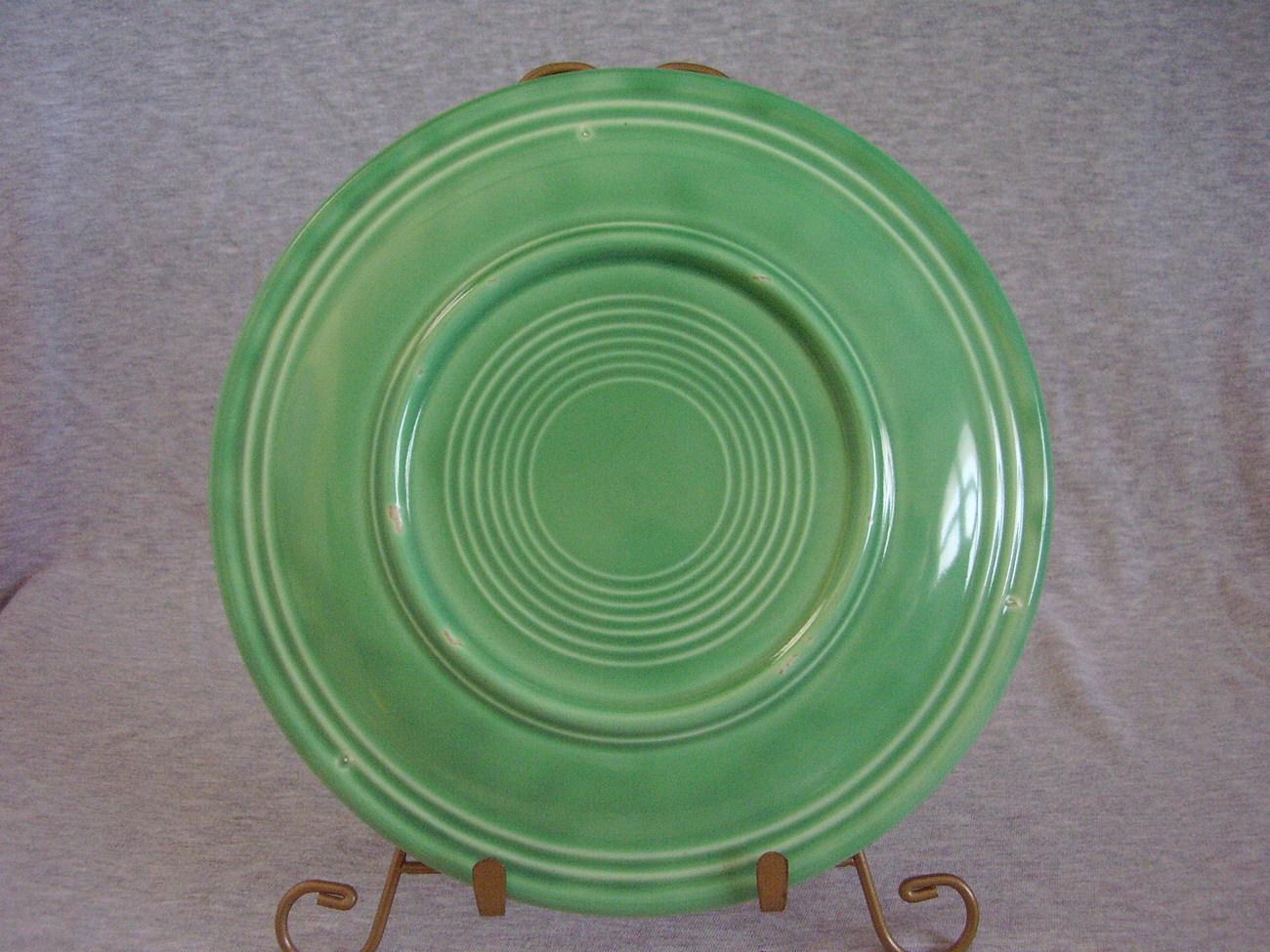 Vintage Fiestaware Original Green Lunch Plate  D