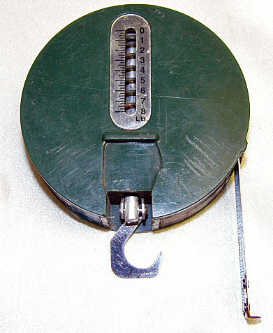 Vintage skoal fishing scale and tape measure other for Fish measuring tape