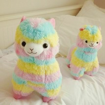 Plush Toy Doll Alpaca Horse Lama Soft Cotton Rainbow Animals 20cm For Bi... - $10.53 CAD