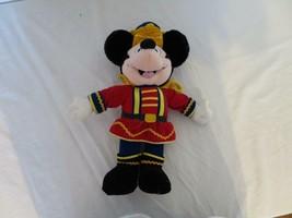 "13"" Walt Disney Prince Mickey Mouse Royal Guard Velvet Attire Stands Plush Vtg - $11.87"