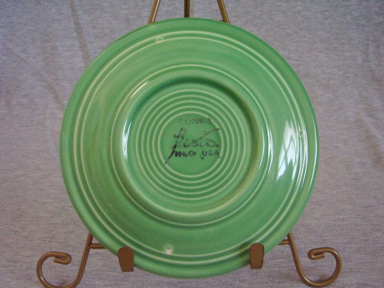 Vintage Fiestaware Original Green Bread Butter Plate  C