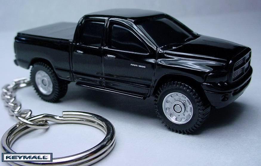 KEY CHAIN RING 2004/~2009 BLACK DODGE RAM 1500 4X4 PORTE CLE