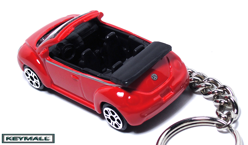 RED VW NEW BEETLE BUG VOLKSWAGEN CONVERTIBLE KEY CHAIN NEW