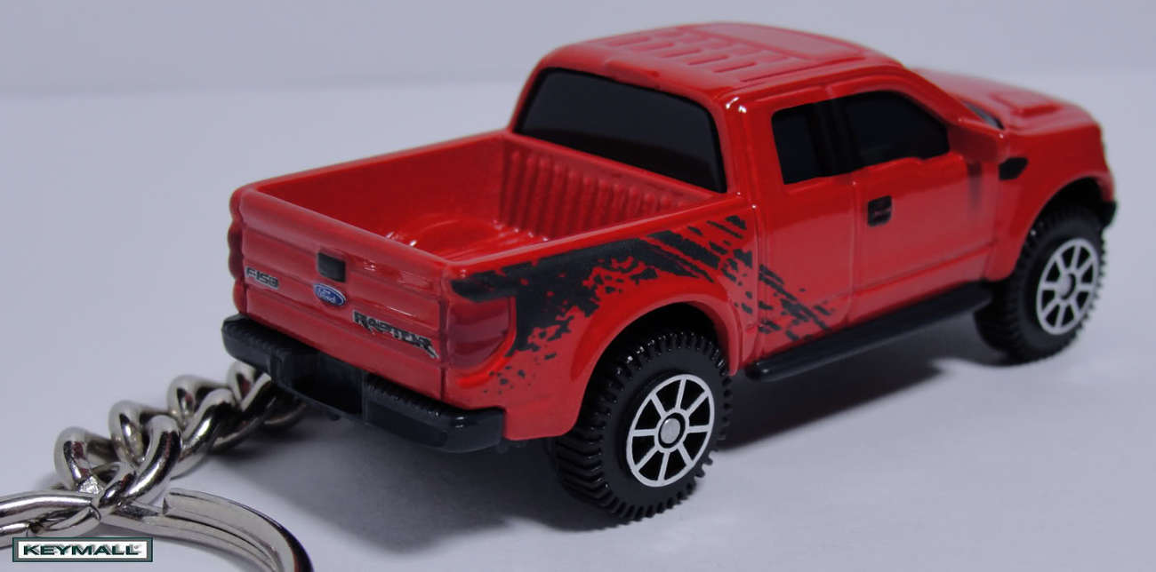 KEYCHAIN 2010~2011~2012 RED FORD F150 RAPTOR TRUCK PORTE CLE