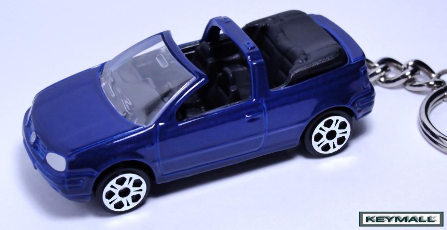 RARE KEY CHAIN 93~99/2000/2001/2002 BLUE VW GOLF CABRIO NEW
