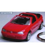 KEY CHAIN RED VW GOLF CABRIO CONVERTIBLE KEYRING PORTE CLE - $32.95