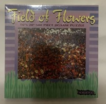 """Field of Flowers - 16"""" X 20"""" - 500 Piece Nordevco Puzzle - $9.89"""