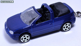 Key Chain Blue Vw Golf Cabrio Convertible New Porte Cle - $32.95