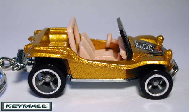 KEY CHAIN DUNE BUGGY VW BUG BEETLE VOLKSWAGON COX GOLD