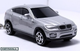 KEY CHAIN SILVER PEWTER BMW X6 X 6 SUV SERIES 4X4 RING - $24.98