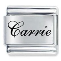 9mm CARRIE Laser Name Italian Charm ( F ) - $1.99