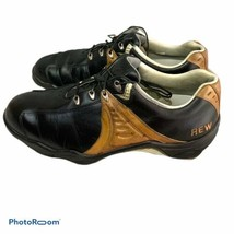 Footjoy Dryjoys Mens Black And Brown Saddle Golf Shoes Size 9.5 M #53470 - $28.05