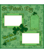 St. Patrick's Day ~ Digital Scrapbooking Quick Page Layout - $3.00