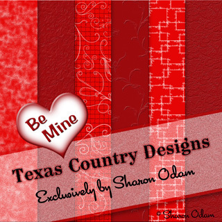 Digital Scrapbooking Paper ~ Be My Valentine