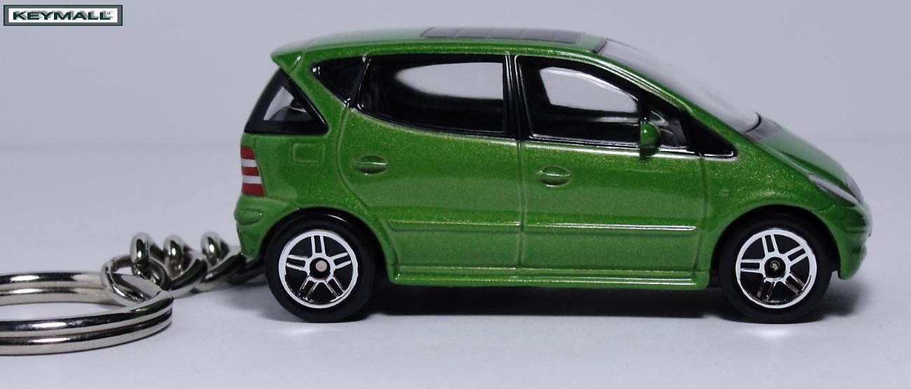 Rare Porte Clé clés MERCEDES A CLASSE Model Verte/Vert