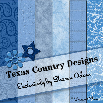 Digital Scrapbooking Paper in Shades of Blue