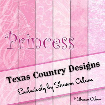 Digital Scrapbooking Paper Pak in Princess Pink