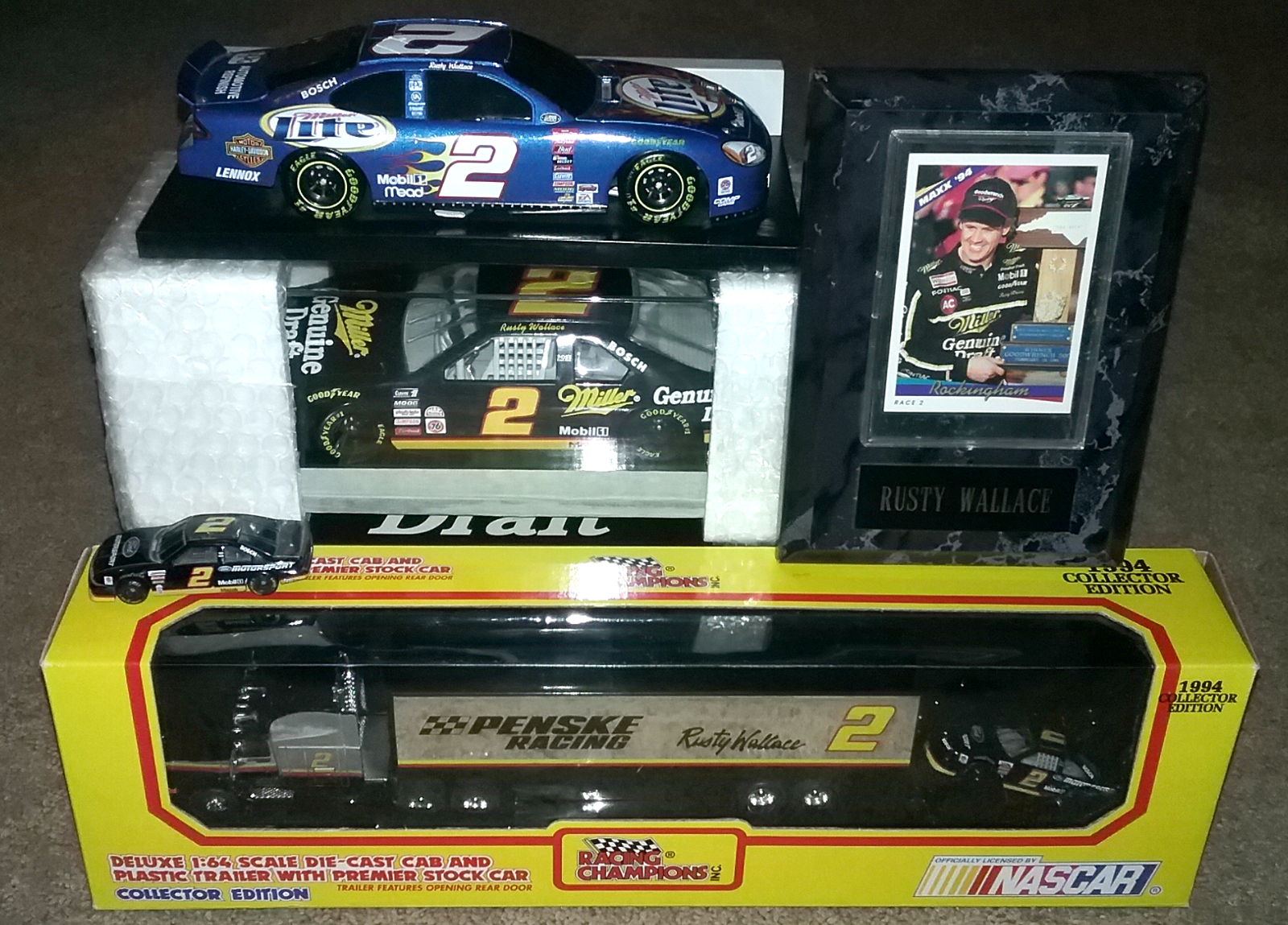 Rusty Wallace NASCAR collection Multiple Item Lot -