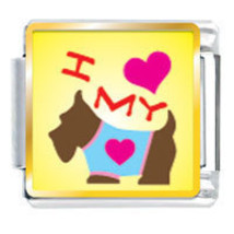 9mm I Heart My Dog Photo Italian Charm - $2.00