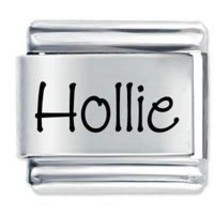 9mm Hollie Laser Name Italian Charm  ( P ) - $1.99