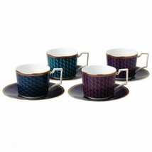Wedgwood Byzance Accent Teacup & Saucer Set Of 4 # 40023959  - $272.25