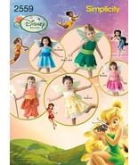 Simplicity Pattern #2559 Disney Fairies Halloween Costumes  - $17.00