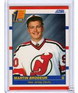 1990-91 Score MARTIN BRODEUR Rookie Card Devils Hockey card - $2.99