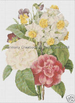 018 Bead Pattern Camellia Narcissus Pansy Flowe... - $0.00