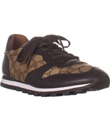 Coach C125 Runner Low Top Lace Up Sneakers, Khaki Chestnut, 11 US - $115.19